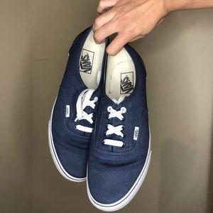 VANS Authentic Dark Blue Unisex Low Top Sneakers